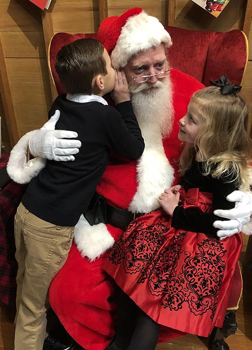 Kavalhuna children with Santa