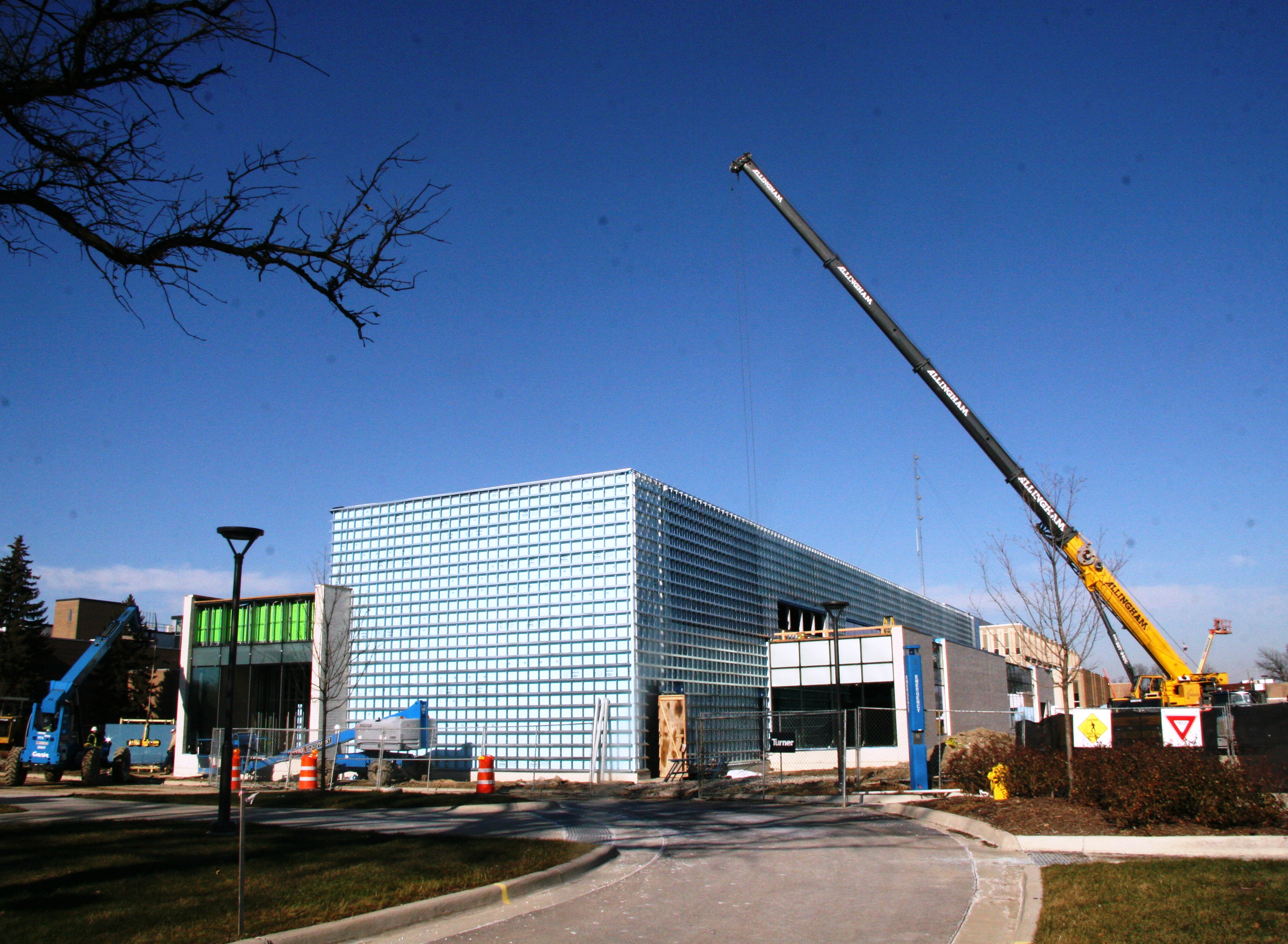 Construction of the Science Building in 2012