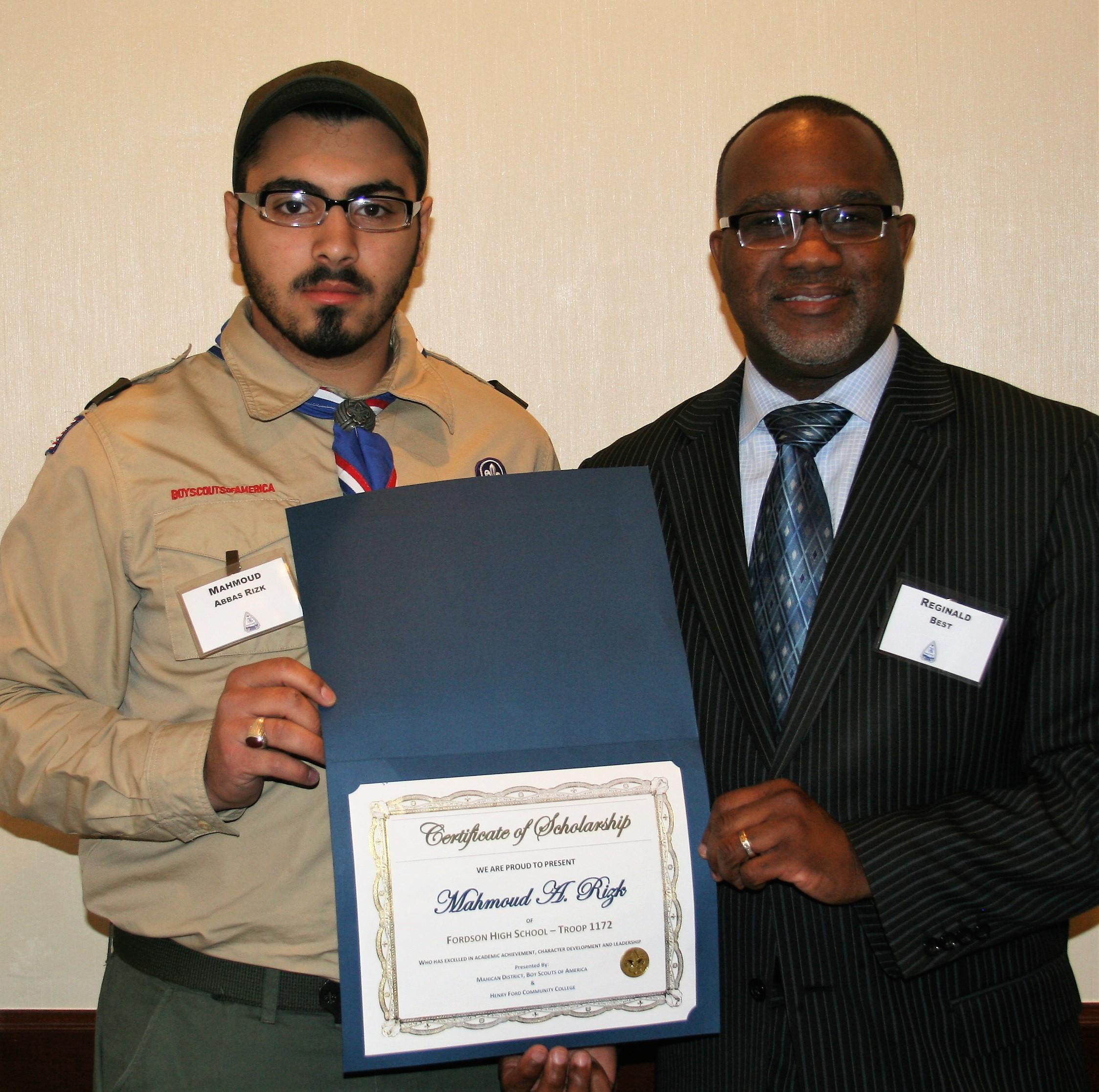 Mahmoud Abbas Rizk (left) and A. Reginald Best, Jr., HFC Vice President of Institutional Advancement