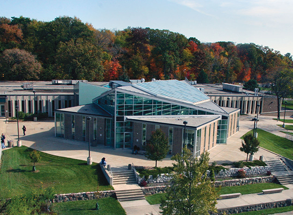 Bird's eye view of Student and Culinary Arts Center