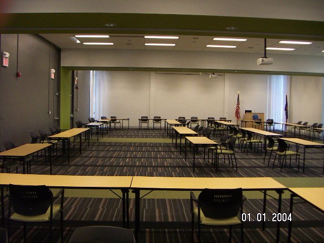 center community conference rooms east central west  divided  walls wserving
