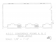 Blueprint showing Rosenau rooms not divided, without tables
