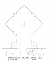 Blueprint of Student & Culinary Arts Center Pavilion
