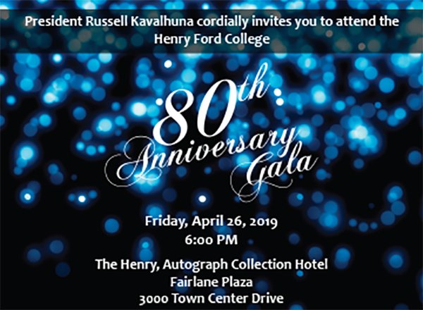 80th anniversary gala graphic -- white text on dark background