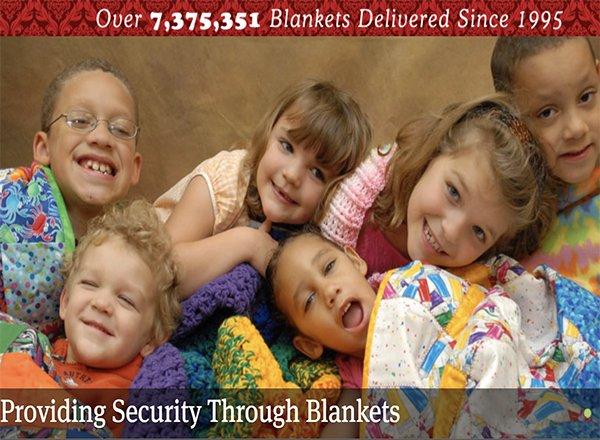 children with blankets