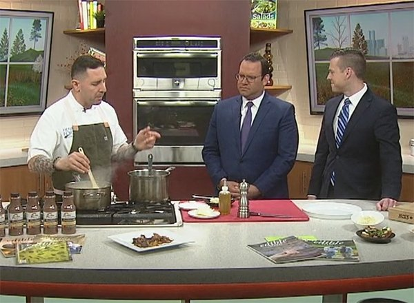 Cosenza with Ermanni and Kevra in the FOX 2 studio