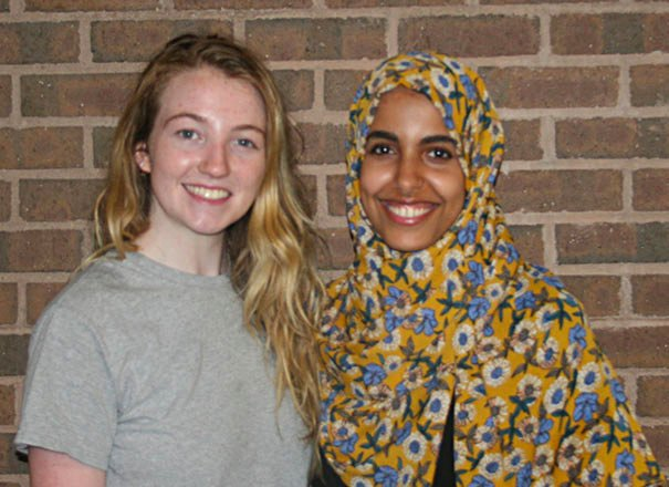 HFC Student Council leaders Georgia Cotter (left) and Baraka Elmadari (right) will continue their education at Wayne State University this fall.