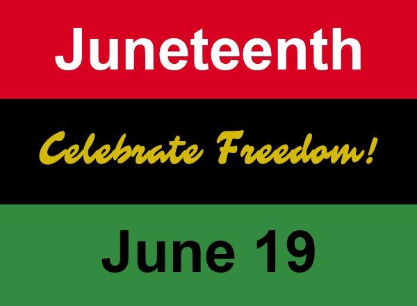 Juneteenth Celebrate Freedom flag