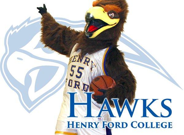 Hawkster with Hawks logo