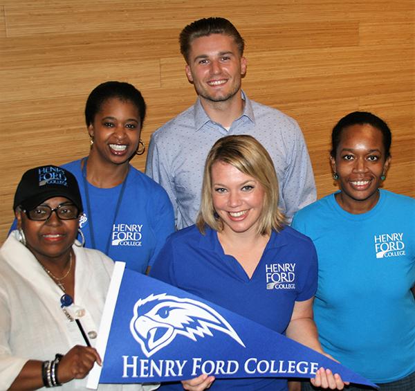 Enrollment Services staff show their HFC spirit!