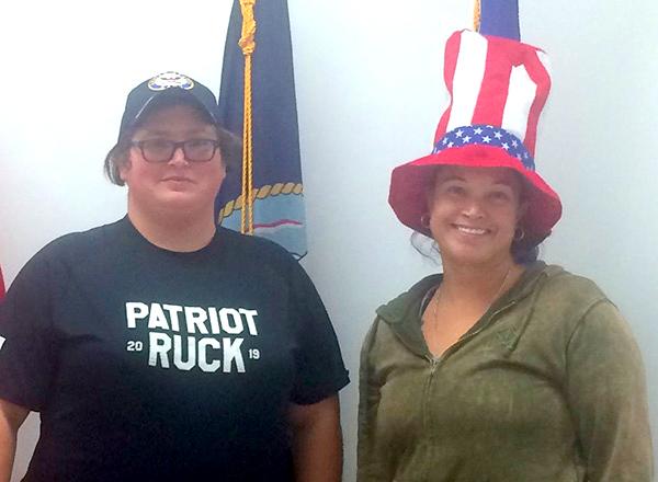 HFC student veterans Sandra Wilkins (left) and Nina Denny (right).