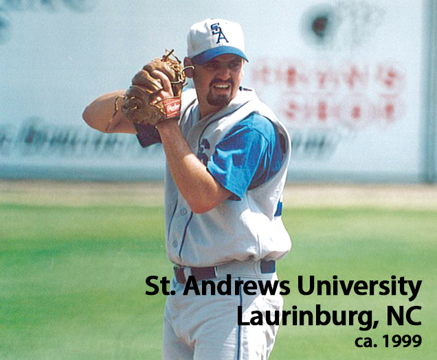 Pitching for St. Andrews University
