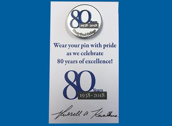 80th anniversary pin