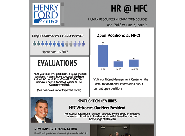 HR Newsletter Screenshot