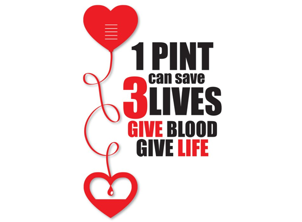 Graphic: 1 pint can save 3 lives
