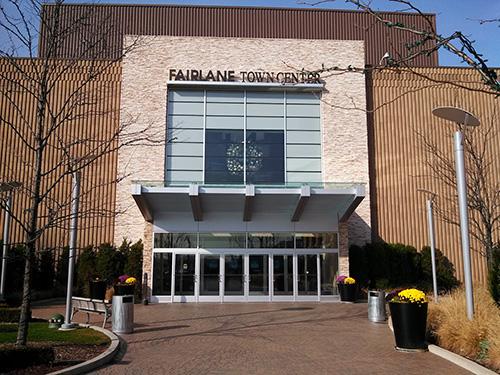 exterior shot of Fairlane Mall (main entrance)