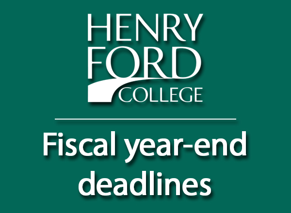 HFC logo followed by Fiscal year end deadlines
