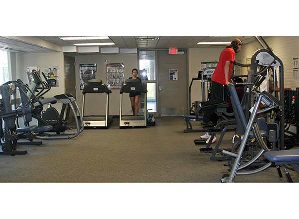 View of the Fitness Center with cardio and weight machines