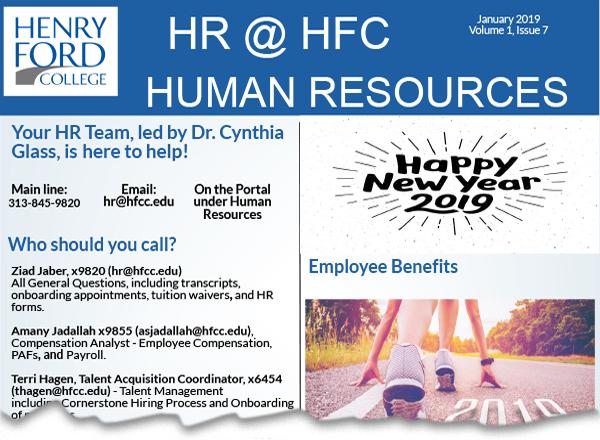 Screenshot of HR newsletter