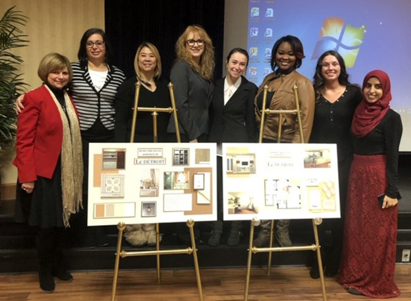 Karen Wilmering with Interior Design students