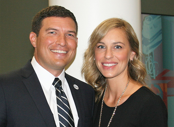 President Russ Kavalhuna with his wife, Courtney Kavalhuna