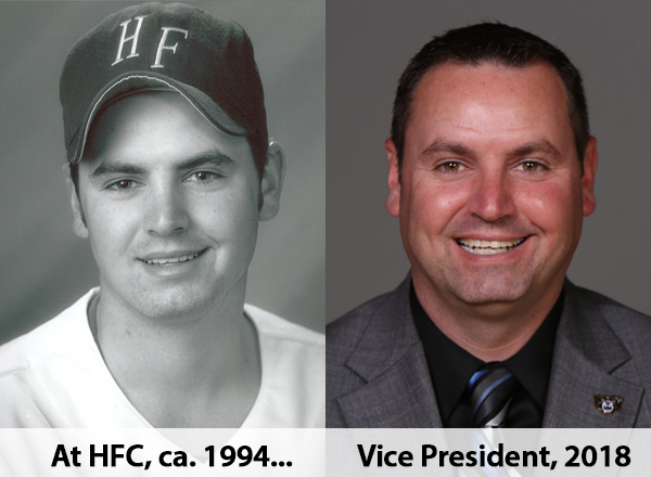 Side-by-side photos of MacDonald from 1994 and 2018