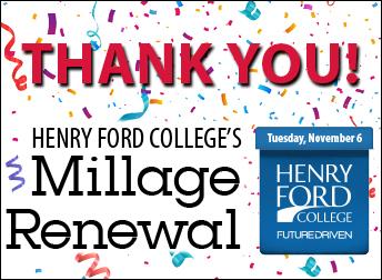 HFC millage logo, thank you, confetti