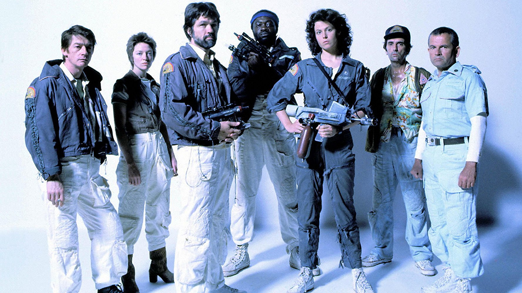 Tom Skerritt with other actors from the movie Alien