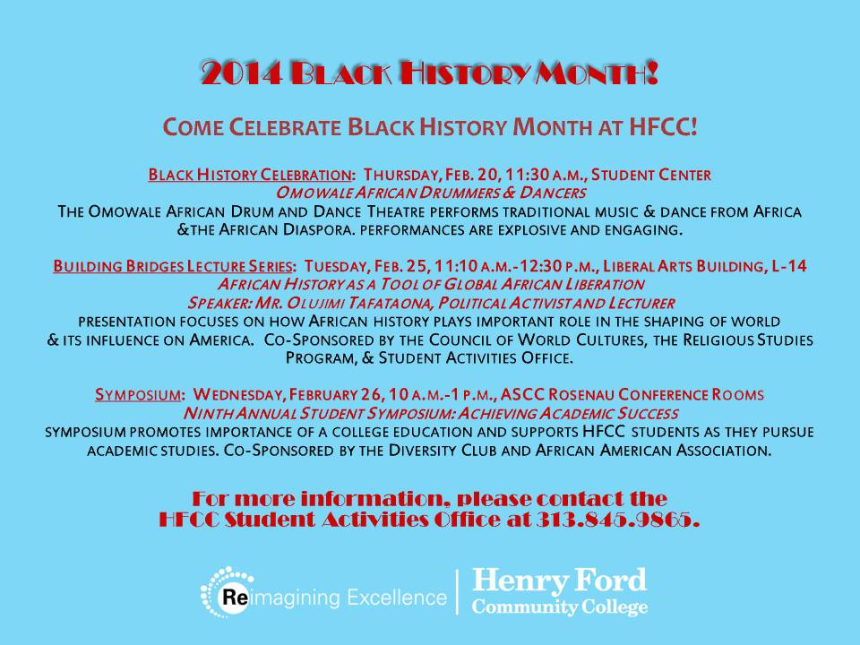 HFCC Celebrates Black History Month | Henry Ford College