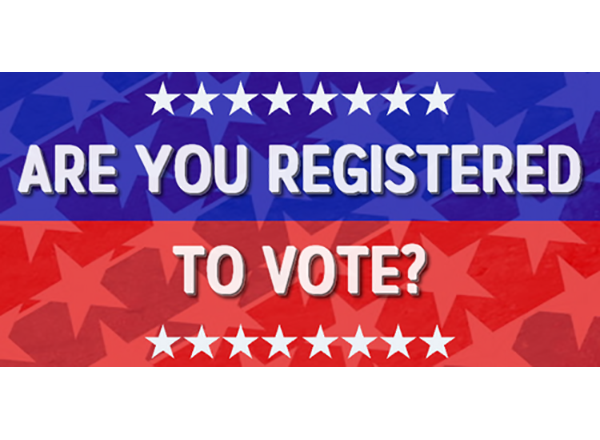 "voter registration ad (""Are you registered to vote?"")"