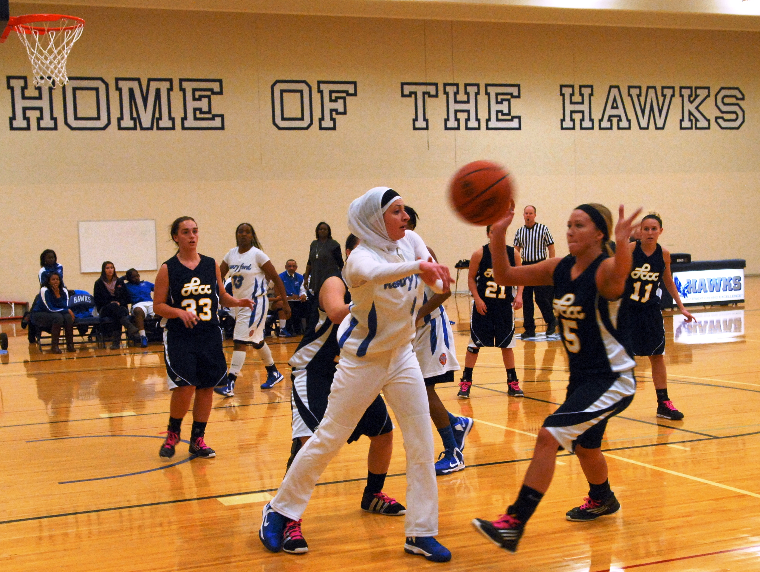Lady Hawks in action